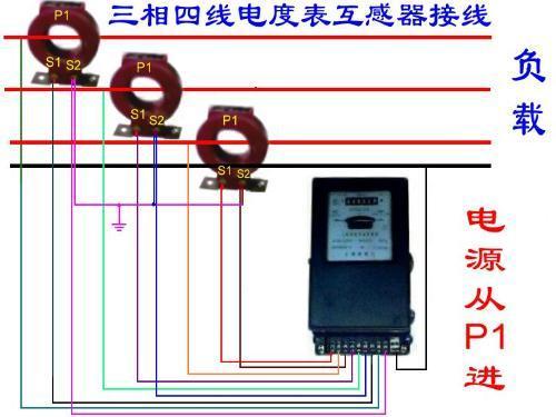 电流互感器接线图(三相四线实物接线图)