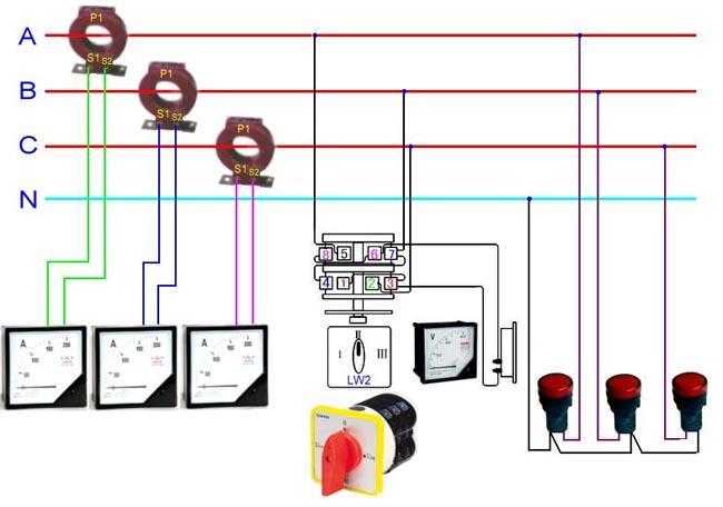 电流互感器接线图(三相四线实物接线图)_技术文章_电流互感器,电压互感器,零序电流互感器,高压,低压,型号,户内,户外,干式,互感器,油浸式,穿芯式,10KV,35KV,生产厂家,接线图,选型,变比_上海欧宜